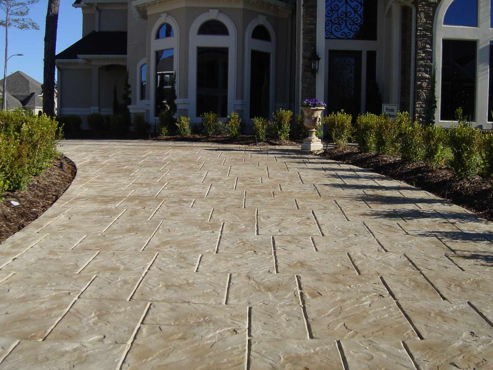 Designer Concrete Driveway Stamped Stained Chesterfield Missouri