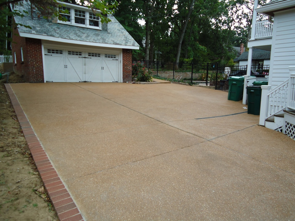 Exposed Aggregate Concrete Driveway - Webster Groves - BuildPro Concrete