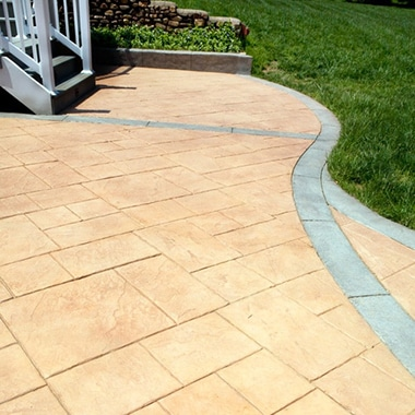Stamped Concrete Patio with Border